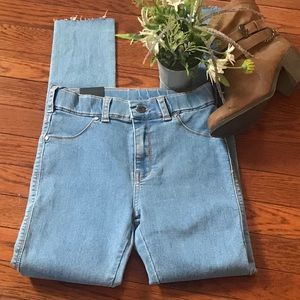 Dr denim skin tight mid rise blue jeans